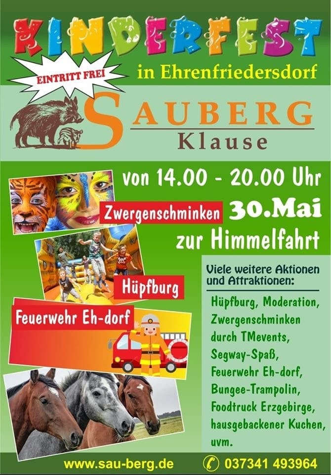 Kinderfest zu Himmelfahrt – Sauberg Klause
